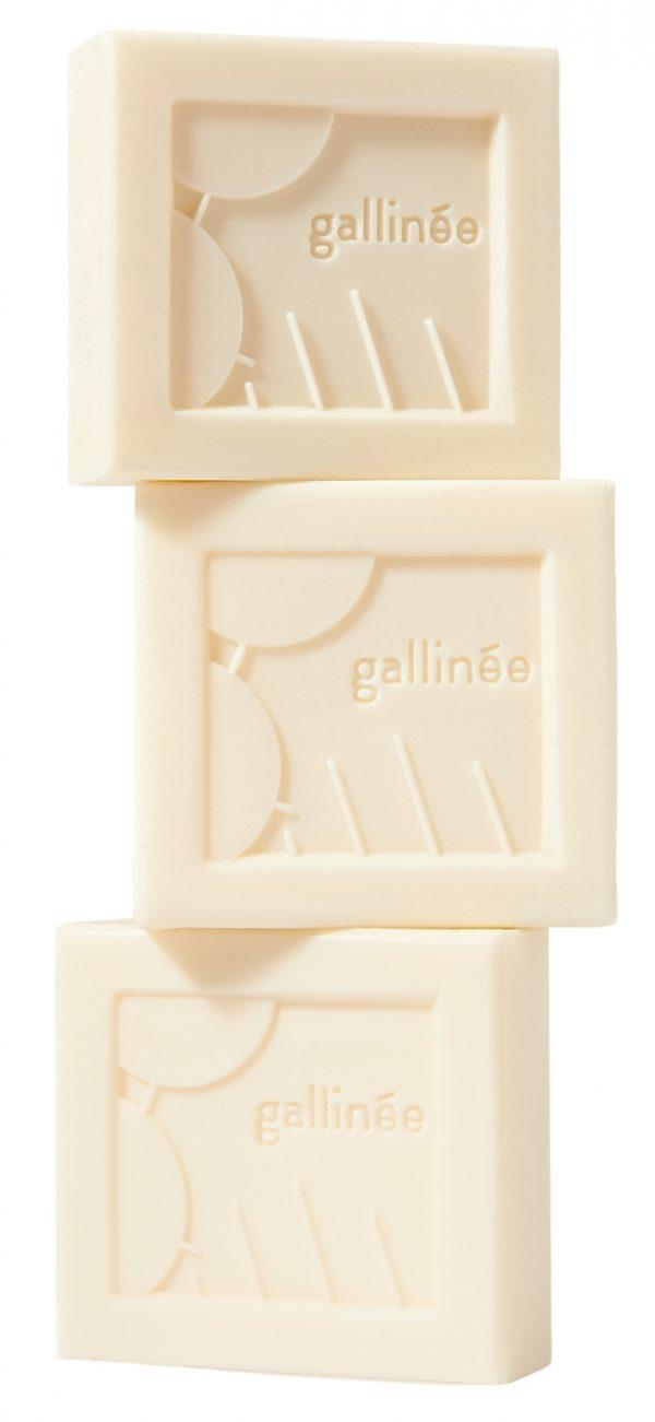Gallinée - 3 pains lavants blanc