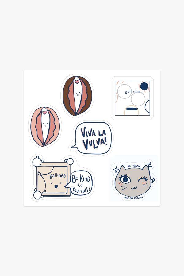 Gallinée Vulva Stickers